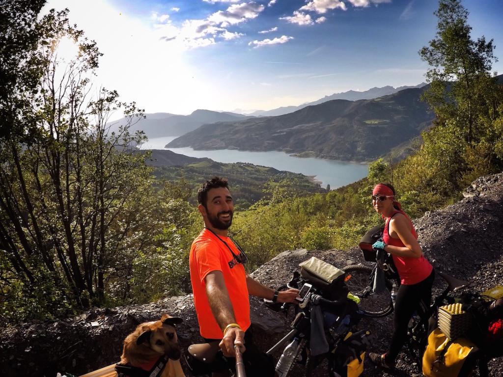 cicloturismo en los Alpes franceses