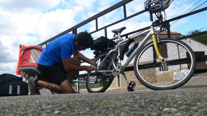 viaje en bicicleta